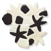 Composizione stelline e ciotoli in bianco e nero
