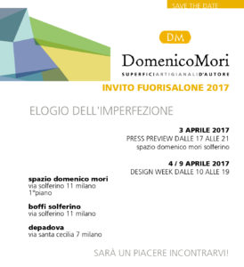 save the date Fuorisalone 2017