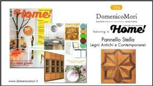 pannello stella legni domenico mori su Home magazine agosto 2017